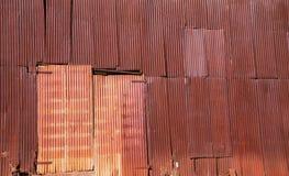 Mur rouillé en métal Images libres de droits