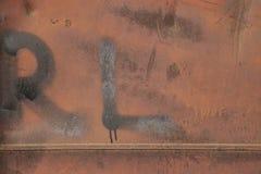 Mur rouillé en métal Vieille texture rouillée de plategrunge en métal Photos libres de droits