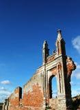 Mur ruiné d'une église tombée au Vietnam Photo stock