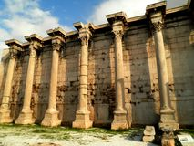 Mur ruiné par Grec Image stock