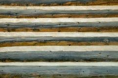 Mur rustique de cabine de logarithme naturel Image stock