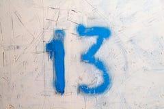 Mur sale avec le plancher treize de pièce Photos libres de droits