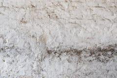 Mur sale blanc de plâtre de vintage avec la texture de couche de stuc Images stock