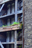 Mur sale dans des serrures de canal dans le Canada photo libre de droits