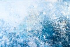 Mur souillé Un fond bleu de vintage d'un vieux mur en béton photos libres de droits