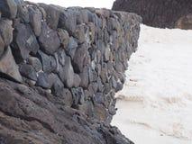 Mur sur la plage Photographie stock