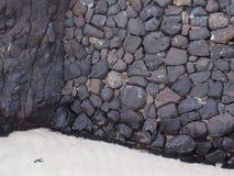Mur sur la plage Photo libre de droits