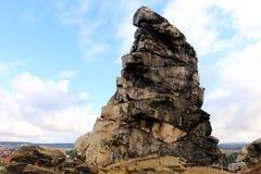 Mur Teufelsmauer de ` de diables en montagnes de Harz Photos libres de droits