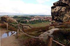 Mur Teufelsmauer de ` de fromDevils de vue à Weddersleben Images stock
