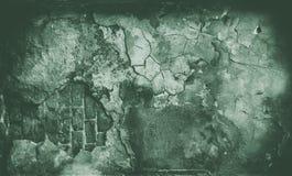 Mur texturisé de grunge vert Images libres de droits