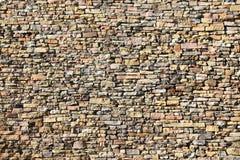 Mur texturisé de pierres sèches Photos stock