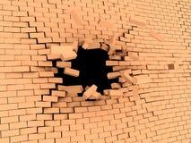 Mur tombé en panne Photos libres de droits