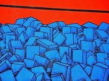 Mur unique de graffiti Photographie stock libre de droits