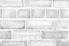 Mur urbain blanc montrant la texture des briques Photos libres de droits