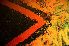 Mur urbain de graffiti Photographie stock