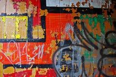 Mur urbain de graffiti images libres de droits