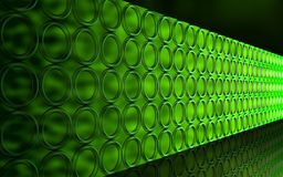 Mur vert Photographie stock
