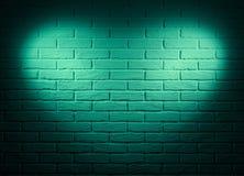 Mur vert avec l'effet de la lumière de forme de coeur et l'ombre, photo abstraite de fond Image stock