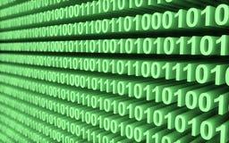 Mur vert de code binaire illustration stock