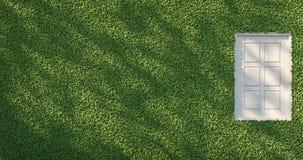 Mur vert et image blanche de rendu de la fenêtre 3D Photo libre de droits