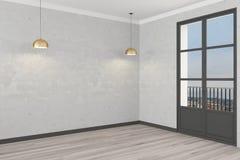 Mur vide blanc de waight sur le fond fonc? avec les spleshes d'or rendu 3d illustration stock