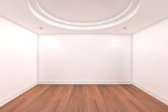 Mur vide de blanc de pièce Photos stock