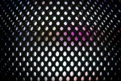 Mur visuel coloré lumineux de LED avec le modèle saturé par haute - fermez-vous vers le haut du fond avec la profondeur du champ photographie stock libre de droits