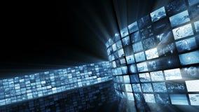 Mur visuel lumineux fascinant animé Boucle-capable 3D rendant 4k banque de vidéos