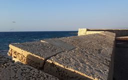 Mura di cinta di San Giovanni d'Acri Immagine Stock