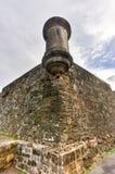 Mura di cinta di San Juan, Porto Rico Immagini Stock