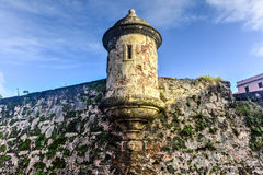 Mura di cinta di San Juan, Porto Rico Fotografia Stock