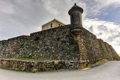 Mura di cinta di San Juan, Porto Rico Immagini Stock Libere da Diritti