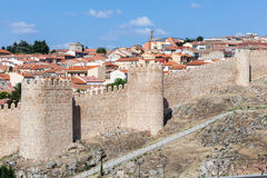 Mura di cinta medievali di Avila, Spagna Fotografia Stock Libera da Diritti