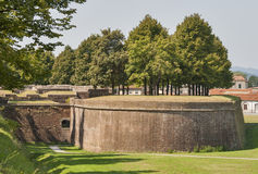 Mura di cinta medievali di Lucca, Italia Fotografie Stock Libere da Diritti