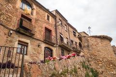 Mura streets. Photograph of street in Mura, Barcelona, Spain stock image