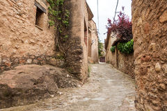 Mura streets. Photograph of street in Mura, Barcelona, Spain Royalty Free Stock Photo
