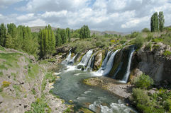 Muradiye waterfall. In eastern Turkey Stock Photos