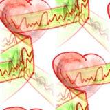 Mural άνευ ραφής κορδέλλα υποβάθρου, υπόβαθρο σχεδίων καρδιών te Στοκ Φωτογραφίες