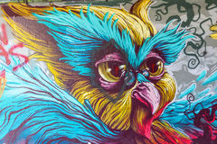 Mural έργο τέχνης στο βήμα στο χώρο στο Αϊντχόβεν Στοκ εικόνες με δικαίωμα ελεύθερης χρήσης