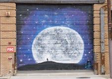 42 mural απροσδιόριστος, βαθύ Ellum, Τέξας στοκ εικόνες
