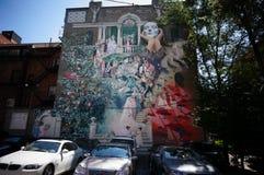 Mural ζωγραφική Στοκ φωτογραφία με δικαίωμα ελεύθερης χρήσης