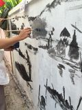 Mural ζωγραφική Στοκ εικόνες με δικαίωμα ελεύθερης χρήσης