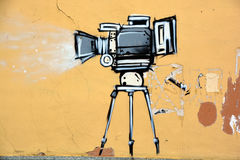 Mural κινηματογράφος Στοκ εικόνα με δικαίωμα ελεύθερης χρήσης