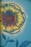 Mural λεπτομέρεια λουλουδιών στην πόρτα σε Corvallis, Όρεγκον στοκ φωτογραφία με δικαίωμα ελεύθερης χρήσης