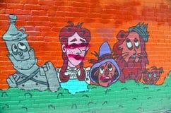 Mural μάγος Oz στοκ εικόνα