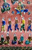 Mural τέχνη μωσαϊκών στο λουρί Wat Xieng, Luang Prabang, Λάος Στοκ Εικόνες