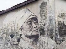 Mural τέχνη οδών τοίχων, Penang, Julia Volchkova Στοκ Φωτογραφία