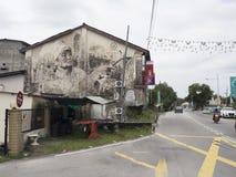 Mural τέχνη οδών τοίχων, Penang, Julia Volchkova Στοκ Φωτογραφίες