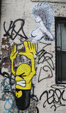 Mural τέχνη σε σκιερό στο Μανχάταν Στοκ Εικόνες