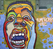 Mural τέχνη σε σκιερό στο Μανχάταν Στοκ εικόνες με δικαίωμα ελεύθερης χρήσης